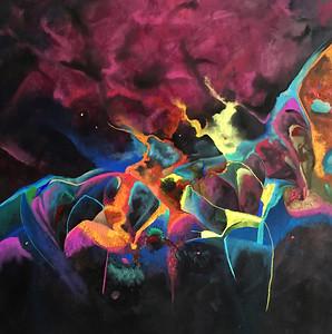"""Alchemy"" (acrylic and pastel on canvas) by Nell-Lynn Perera"