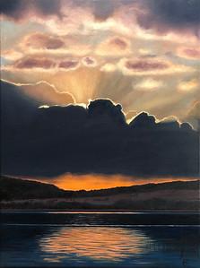 """Presence"" (oil on canvas) by Monika Csanyi"