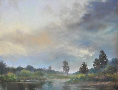 """""""Twilight in the Meshchersky Forest"""" (pastel) by Nataliya Protchenko"""