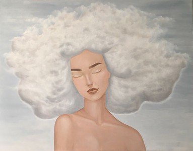 """""""Thoughts"""" (oil on canvas) by Anastasia Bazhanova"""