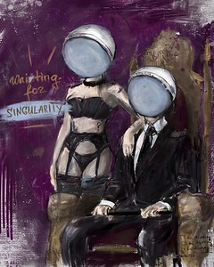 """Waiting for the Singularity"" (digital) by Anna Poliakova"