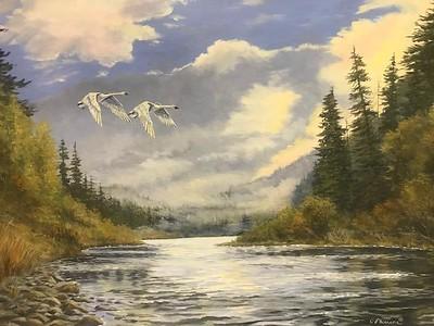 """Misty River"" (acrylic) by Judy Phearson"