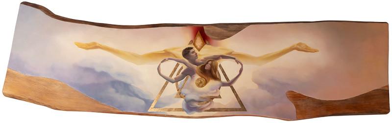 """Cycle.Yggdrasills"" PART1 (wood, gold, silver, oil) by Oleksandr Serdiuk"
