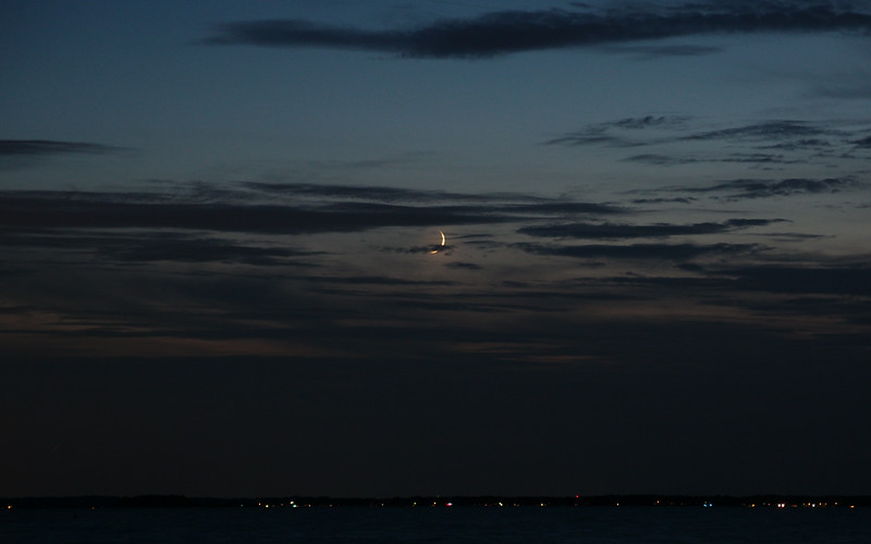 Moon over the Chesapeake
