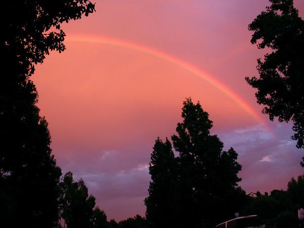 San Dimas sunsets & rainbows