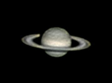 Saturn 22..6.2012 cca 23:00 SELČ. Skywatcher 130/650, barlow 2x, extension tube, modifikovaná MS Lifecam HD 5000.