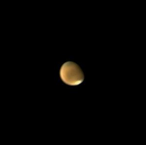 Mars 14. 8. 2020, Brno, SkyWatcher 130/650, barlow 2x, MS Lifecam Studio, stack