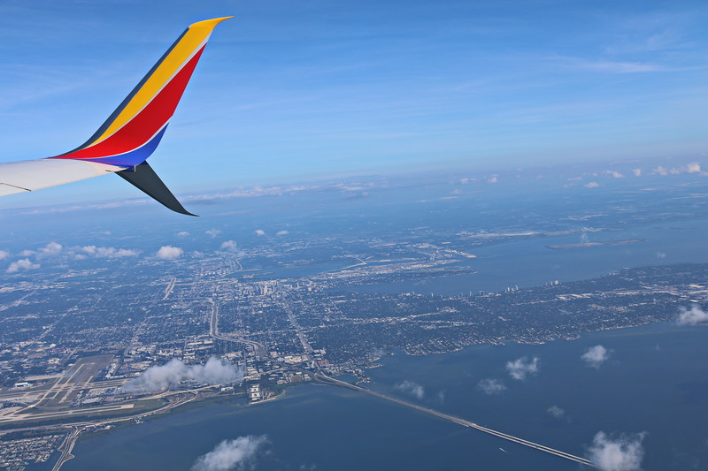 In Flight View of Tampa Bay