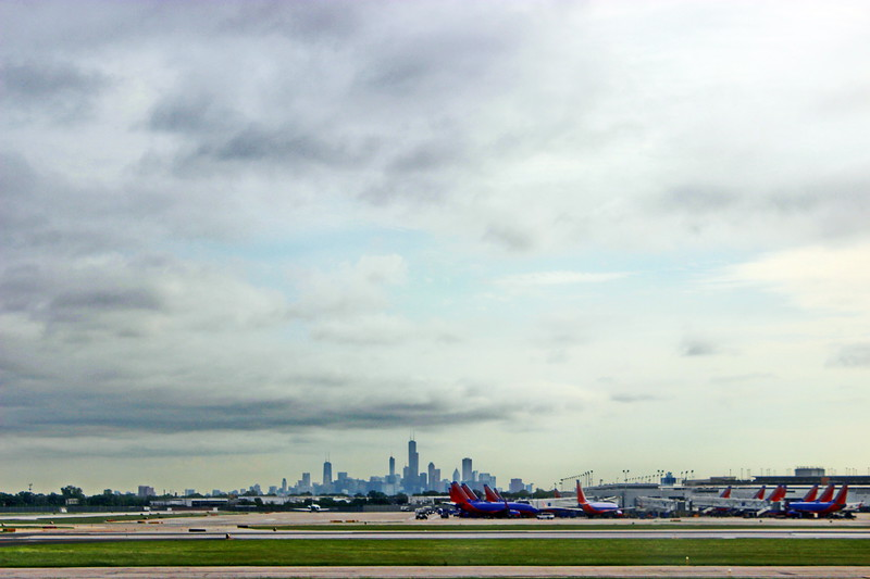 Midway Airport View of Downtown Chicago