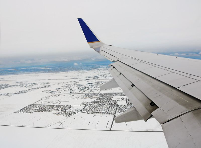 In Flight View in Winter