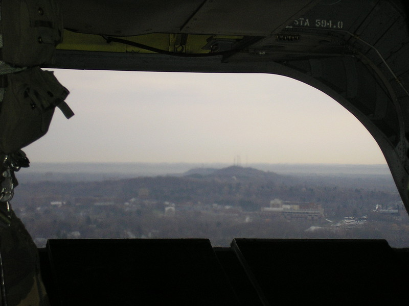 View of Cobb's Hill from the Helicopter