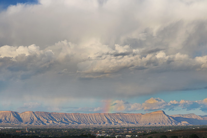 Rainbow over Book Cliffs and Mt. Garfield