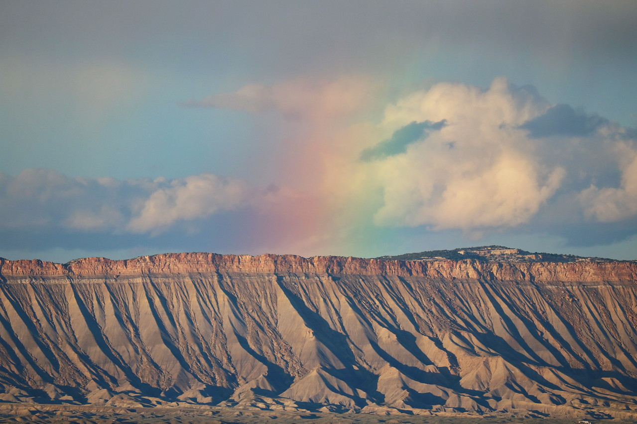 Rainbow over Book Cliffs