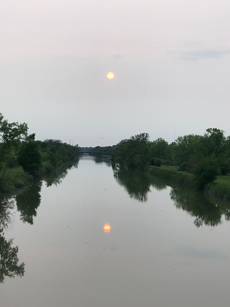 Moonlight Reflected in the Erie Canal