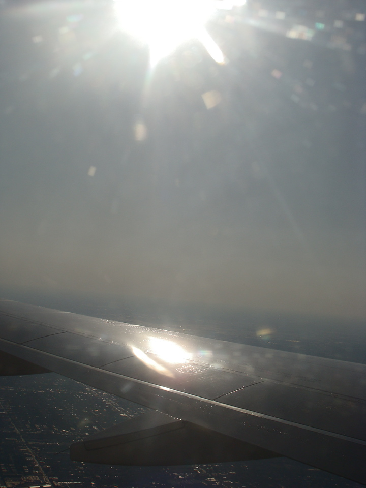 Sun Reflection on the Wing