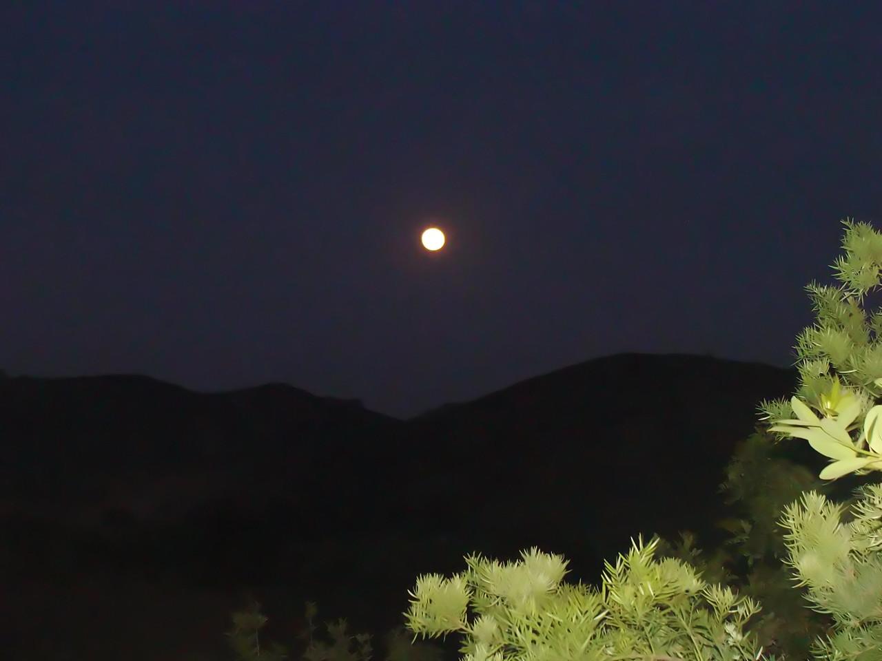 Moon over Sana Rosa Valley
