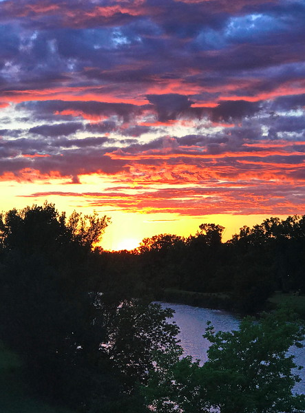 Sunset over the Erie Canal