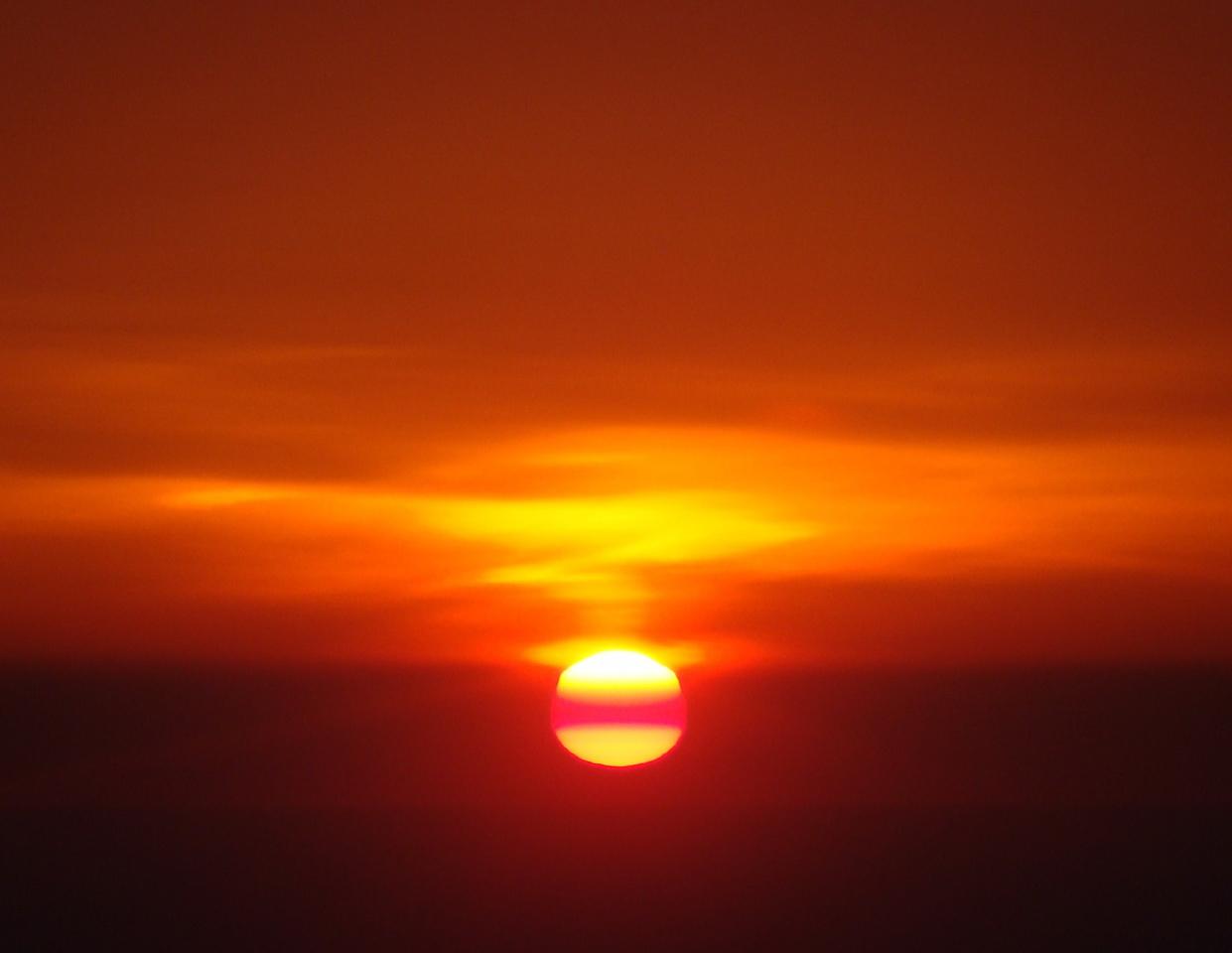 Sunset over Upstate New York