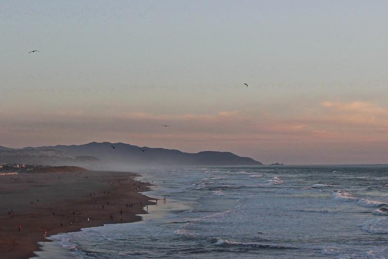 Dusk at Ocean Beach