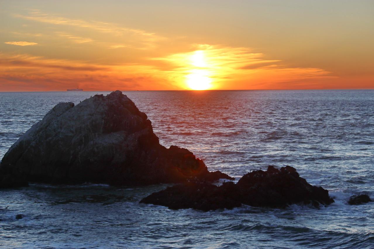 Bird Rocks at Sundown