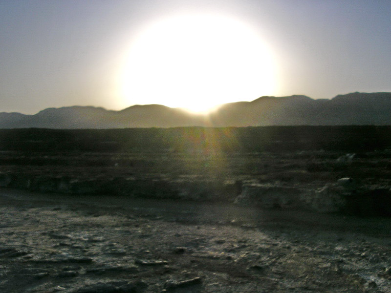 Sunset in the Judean Desert at the Dead Sea