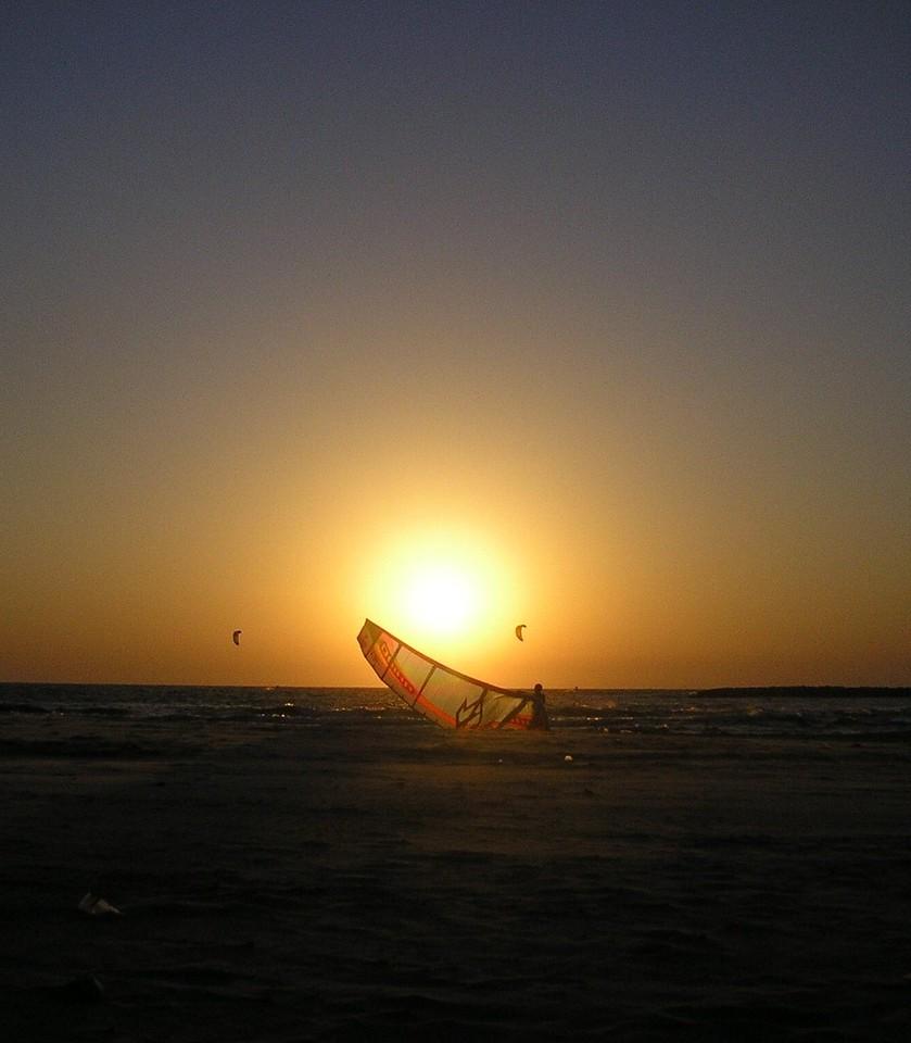 Parasailing into the Sunset