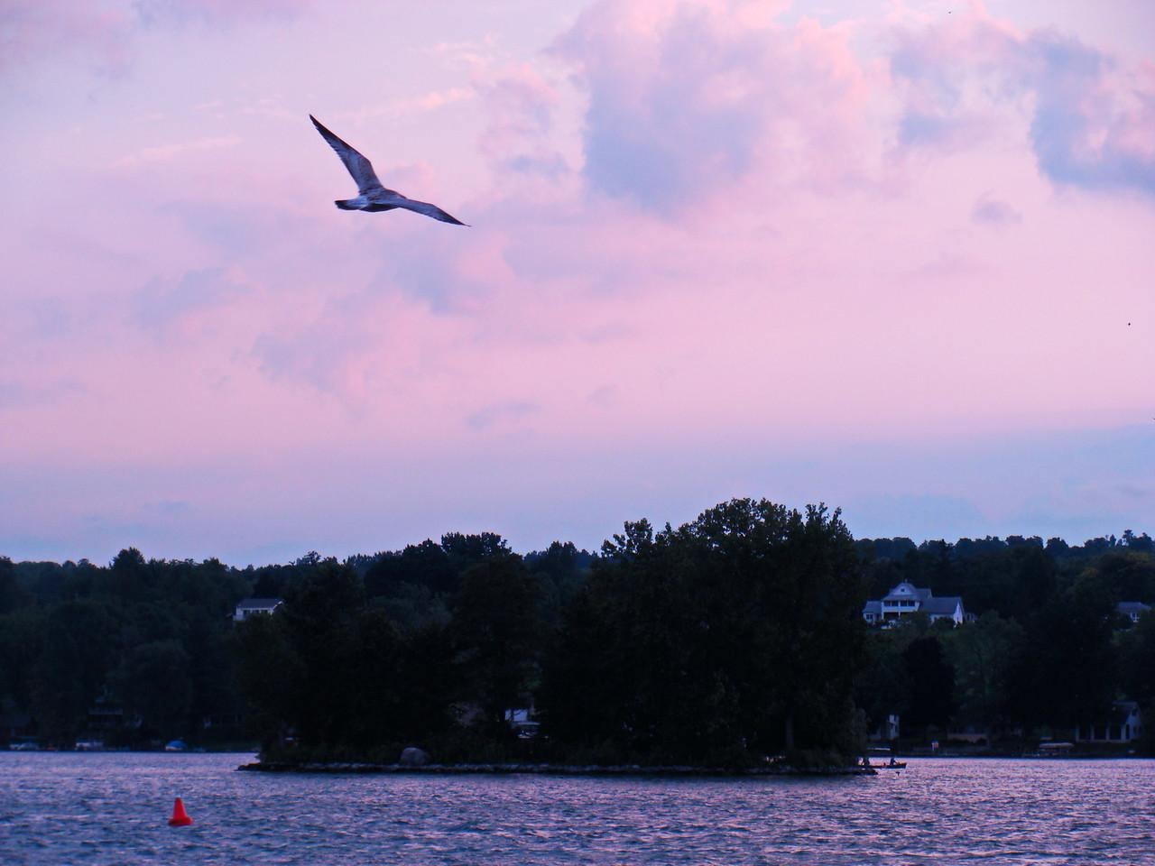 Sunset over Seneca Lake