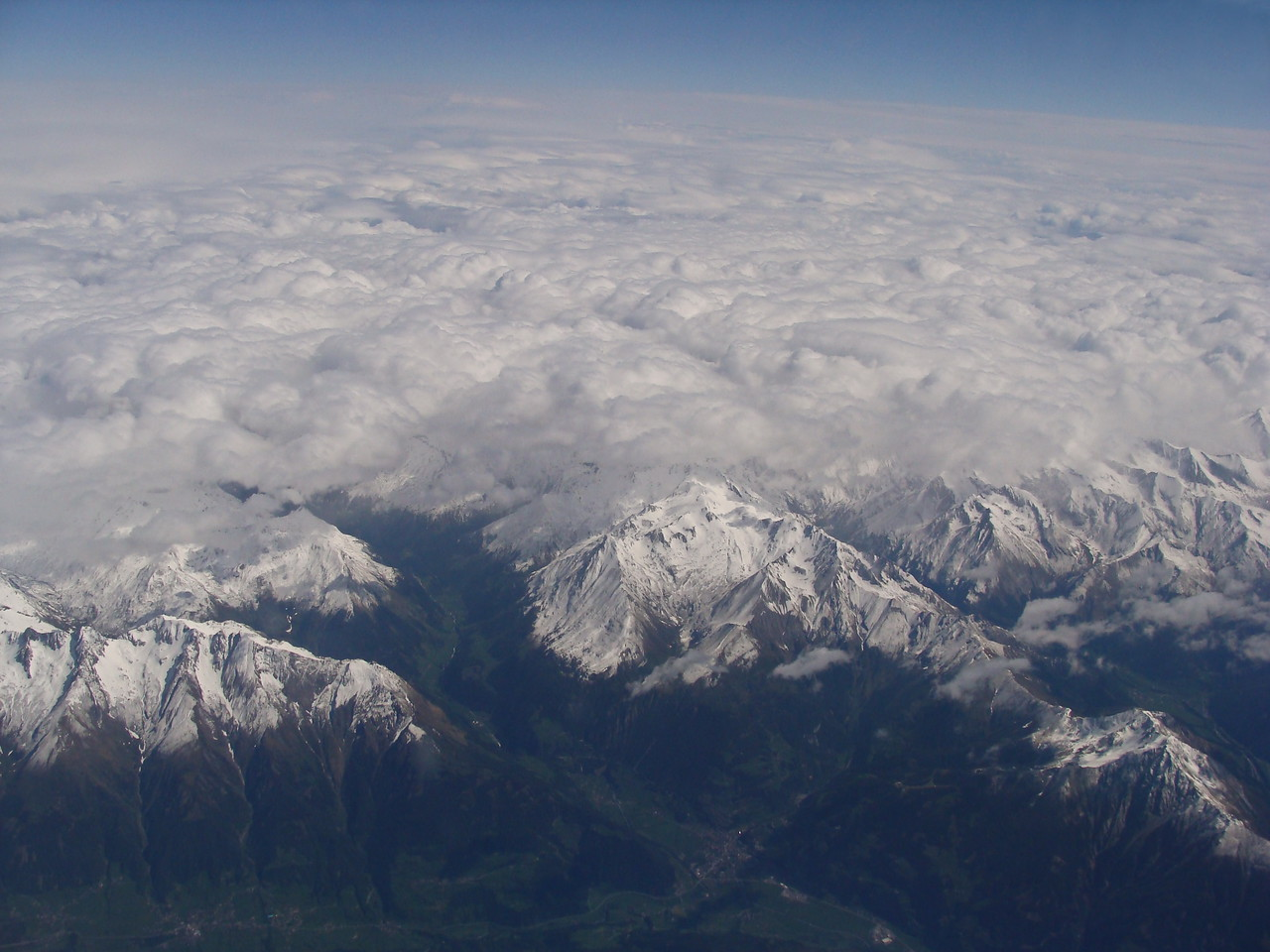 Clouds Blanket the Alps