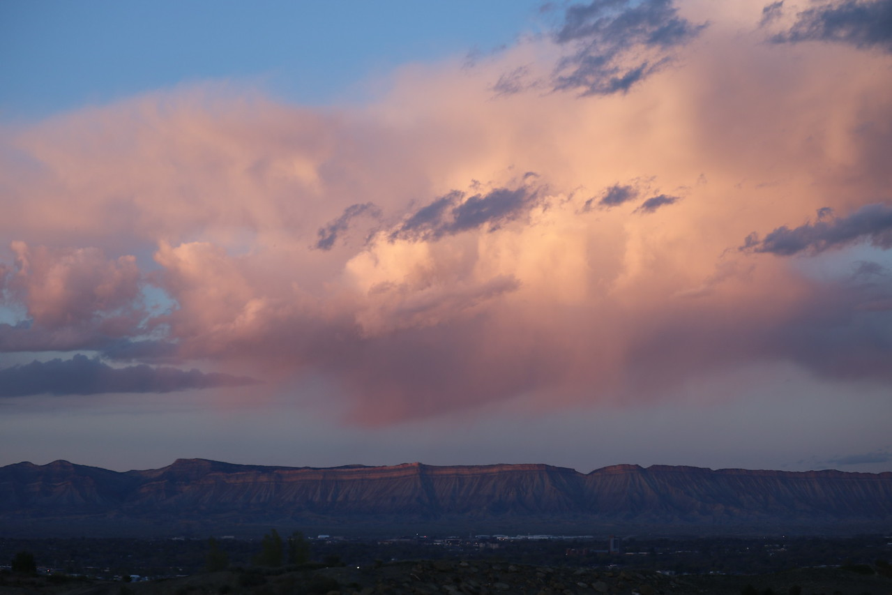 Pink Clouds at Sundown