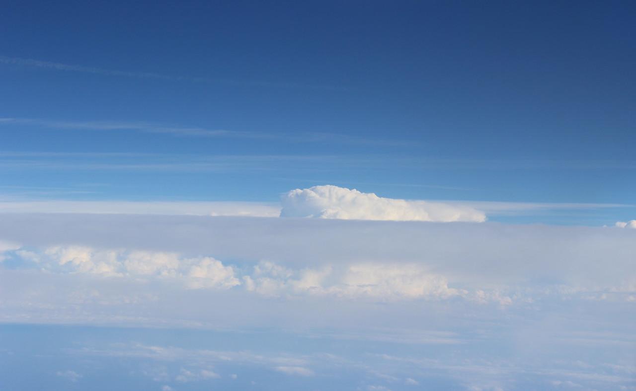 Cloudy Blue Sky over the Eastern USA