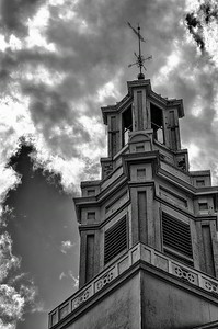 Andover Baptist spire, 7-29-14