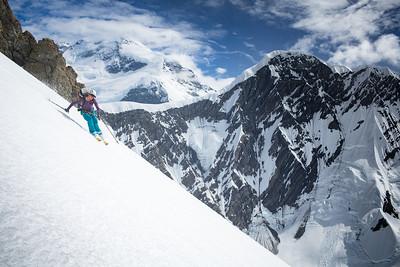 Janelle Skiing Mt St Elias