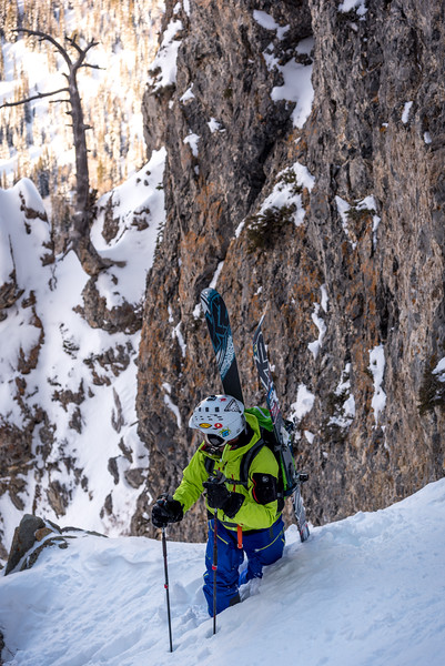 Benson and Hedges Couloir, Wasatch Mountains, UT