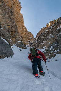 Couloir on the North Face of Timpanogos, UT