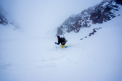 Skiing the Sunrise Couloir