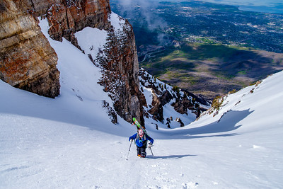 West Couloir on the South Peak of Timpanogos, UT
