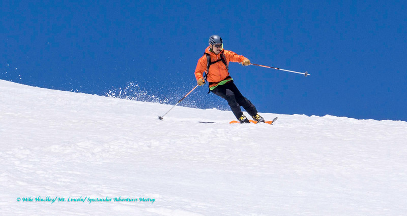 Ski mountaineering trip to Mt. Lincoln with Spectacular Adventures Meetup.