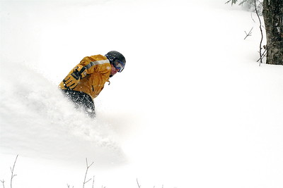 Dan Brindise getting some POW in the woods. 2006
