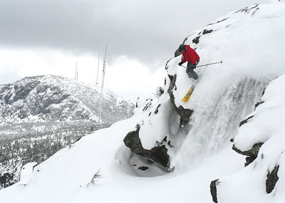 Dave Bouchard dropping into the Rock Garden, Mt. Mansfield, 2006 Taken by Evan Waldman