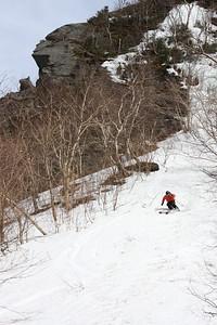 Evan Waldman, Hunter & Dog top left corner, Smugglers Notch, VT - Spring 2008