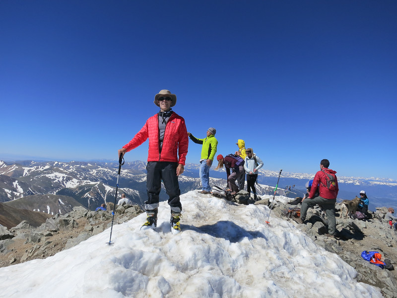 Obligatory summit shot with the 14er crowds.