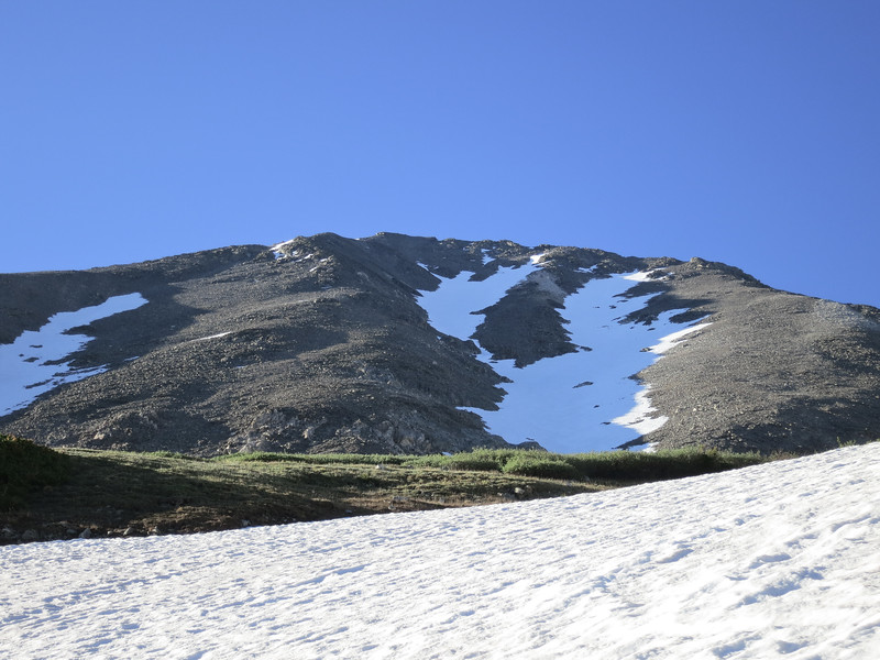 The Tuning Fork - normally a 3,000ft ski line. In it's current state it's maybe 2,700ft?