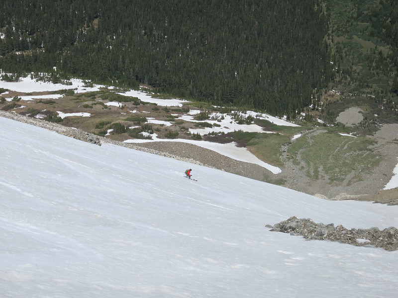 Still skiing - my legs were tired!