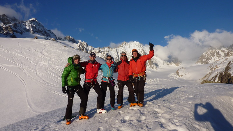Basking in the morning sun at the Cabane de Saleina 2693m. Photo taken by the legendary guardian.