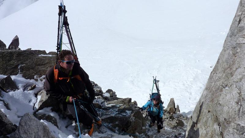 Christophe and Julie at the Col de la Grande Lui 3419m