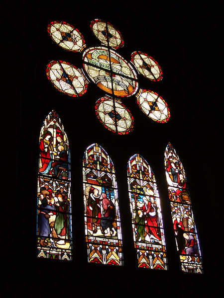 The white timber Victorian Gothic Church of S. Michael's (1872) is notable for it's detached belfry (1860) and the finest collection of Victorian and Edwardian stained glass in Christchurch.