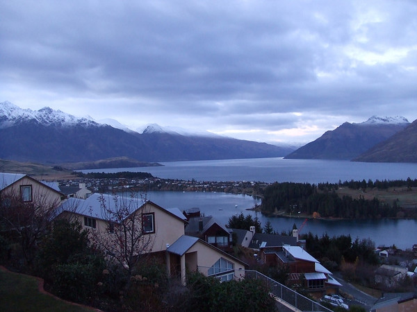 This was the view of Queenstown from our house.