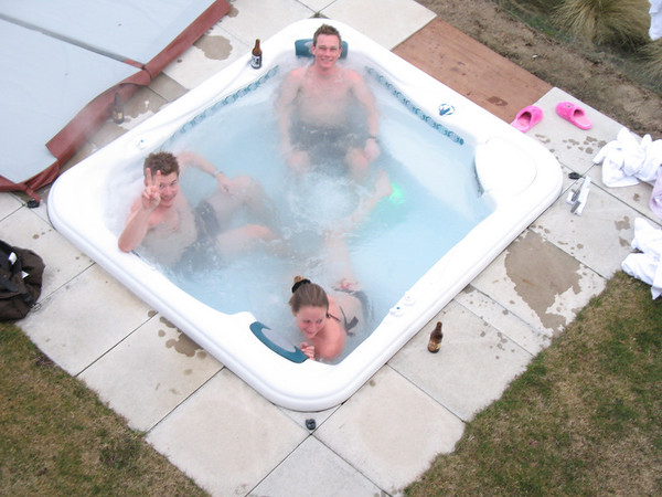 The house even came with a jacuzzi - how good is that? :)