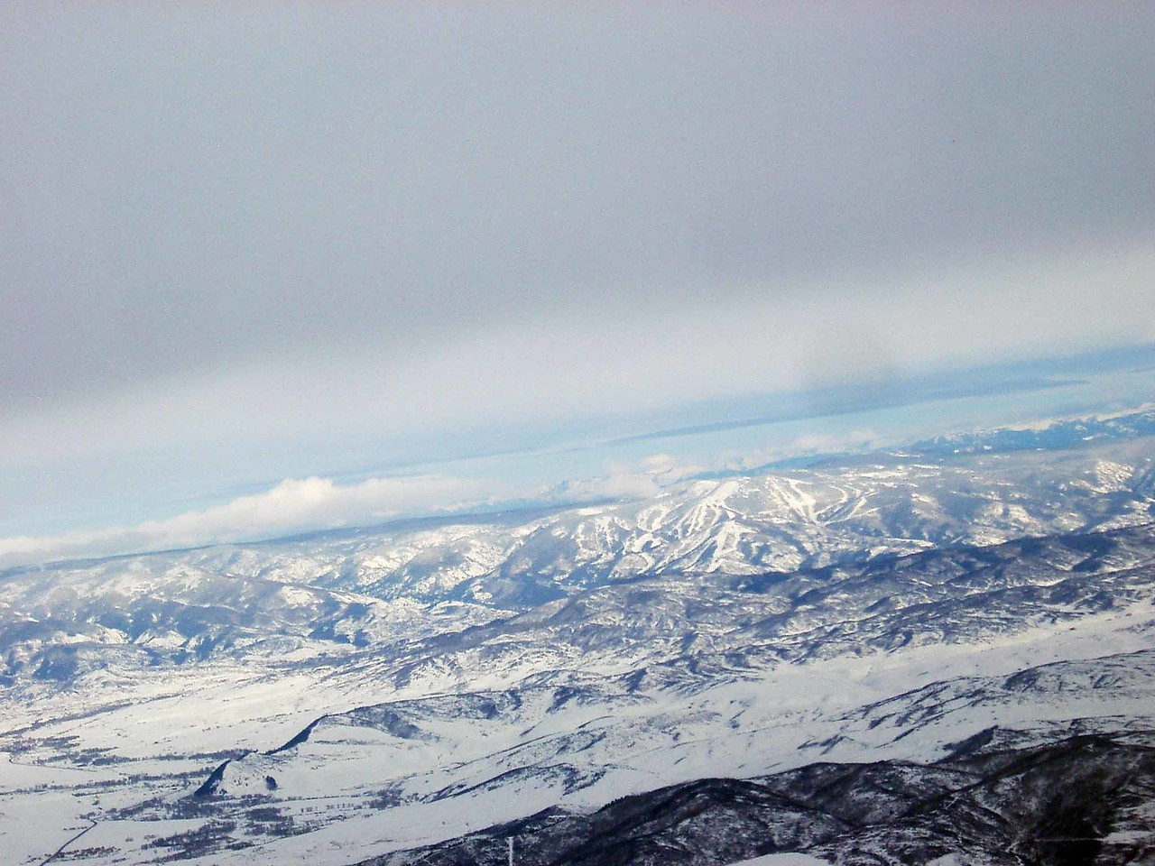 321 Steamboat Ski Area from Air
