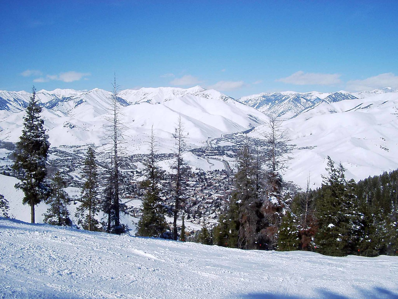 419 View of Ketchum & Sun Valley Cities from Bald Mtn